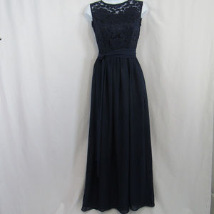 Alice Berry Custom Formal Navy Blue Dress SM 2-4